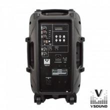 "PACK 2 COLUNAS AMPLIFICADAS 12"" 360W USB/BT/SD + MICRO + TRIPÉS VSOUND"