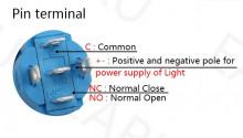 Pulsador LED Iluminado 12V DC Momentâneo 19mm Metal à Prova de Água