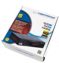 Receptor TDT HD DVB-T/T2 H.265 Display/Botões Frontais - ESPERANZA