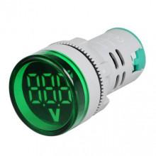 VOLTÍMETRO DE LED DE PAINEL VERDE AC12-500V