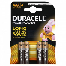 Blister 4 Pilhas Alcalinas 1,5V LR03 AAA - Duracell PLUS
