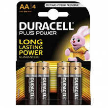 Blister 4 Pilhas Alcalinas 1,5V LR06 AA - Duracell PLUS