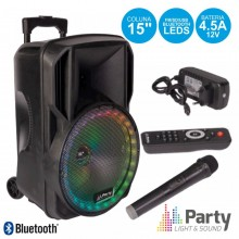 "COLUNA BLUETOOTH PORTÁTIL 15"" USB/FM/SD C/ MICRO - PARTY"
