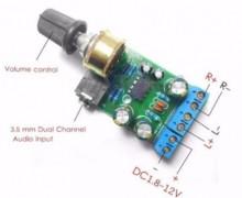 Amplificador Stereo 5+5 W DC 1.8 - 12V