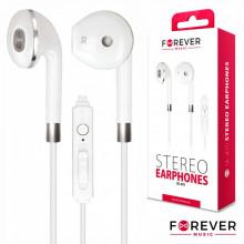 Auscultadores Stereo e Micro C/ Fios Branco