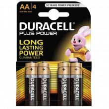 Blister 4 Pilhas Alcalinas 1,5V LR06 AA - Duracell PLUS