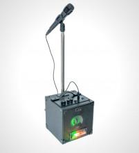 Conjunto de Karaoke - Coluna c/ Bluetooth e Microfone c/ Suporte