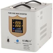 Conversor 12V -> 220V 1200W (ONDA PURA) Estabilizador Tensão c/ Função Carregamento Bateria - KEMOT