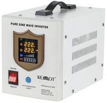 Conversor 12V -> 220V 500W (ONDA PURA) Estabilizador Tensão c/ Função Carregamento Bateria (Branco)