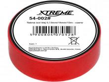 Fita adesiva de isolamento 0,13mm / 15mm / 10m - vermelho