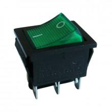 Interruptor Duplo Luminoso (Verde) - 220V