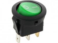 Interruptor Iluminado Verde Redondo 12V