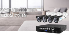 Kit Sistema de vigilância externa 4ch cctv, kit de câmera 720p/1080p ahd 5 em 1, gravador de vídeo, uso externo kit de alarme por e-mail, câmera