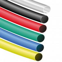 Manga Termoretrátil Cores Ø 6.4mm > 3.2mm (Tamanho 1,2 metros)