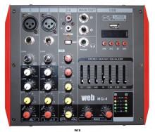 Mesa de Mistura Amplificada 2x100W RMS 4CH com Phantom e USB