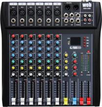 Mesa de mistura profissional 9 canais 60S-USB