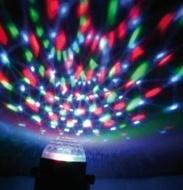 MINI SEMI ESFERA LUMINOSA 3 LEDS RGB COM RAIOS MOVEIS