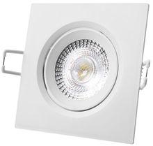 Painel de LED Quadrado (9 x 9cm) 5W Branco F. 6000K 380Lm - Branco
