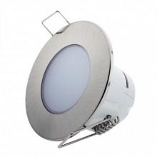 Painel de LED Redondo Ø8,3cm 5W Branco Q. 3000K 350Lm - Cinza