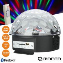 Projector esfera LED RGB 6W + 2 Colunas 4,5W