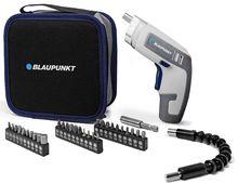 Aparafusador s/ Fios c/ Bateria 3.6V 2Ah c/ Ponta Flexível + 24 Acessórios + Bolsa - BLAUPUNKT
