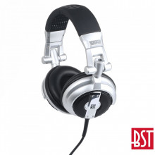 Auscultadores DJ Articulados Pro Cinza/Preto BST