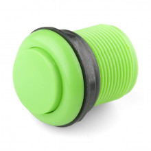 Botão Pulsador p/ Consolas de Arcade 12V/1A (35 x 46mm) - Verde