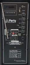 """Coluna Bluetooth Portátil 12"""" FM/USB/AUX + C/ Micro s/ Fios - PARTY"""