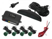 Conjunto 4 Sensores Estacionamento + LCD + Sonoro - 22mm Verde