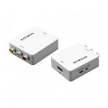 Conversor HDMI - AV (RCA + AUDIO) c/ Alimentador incluído