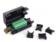 Ficha HDMI Macho c/ Terminais de Parafusos