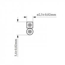 Fio para Coluna CCA 2 x 1mm Branco - metro