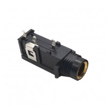 Jack 6,3mm Fêmea Painel Mono Isolado p/ circuito impresso