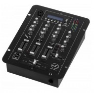 Mesa de Mistura 3 Canais / 7 Entradas c/ Leitor MP3 USB/SD - ACOUSTIC CONTROL DJM-3-PLAY