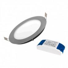 Painel de LED Redondo (INOX) Ø85mm 5W 4000K 380Lm