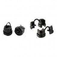 Passa cabos / braçadeira de cabo de 5,3 e 6.6 mm - preto