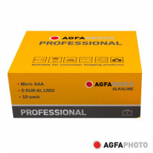 Pilha Alcalina AAA 1.5V AGFAPHOTO - 10 unidades