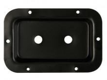 Placa com furação para jack 6.3 mm / Speakon - preta