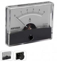 Amperimetro de Painel 5A DC / 60 x 47mm