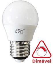 Lampada LED E27 220V 5,5W Branco F. 6000K 500Lm (Dimável) - EDM