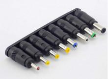 Adaptadores de fichas DC 8 peças 5.5x 2.1mm para 6.3 6.0 5.5 4.8mm 4.0mm