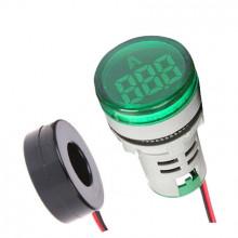 Amperímetro Verde de Painel AC 0-100 Amp
