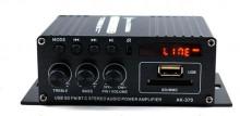 Amplificador 2 x 40W Máx, USB / FM / Bluetooth + Comando