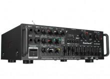 Amplificador HI-FI USB/SD/Bluetooth rádio 4 mic Equalizador 2x300W - 220/12V