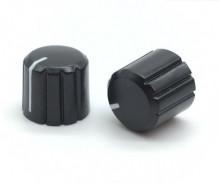Botão p/ Potenciómetro 6mm c/ Indicador Preto