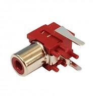 Conector RCA para Circuito Impresso - Vermelho