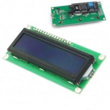 Display IIC/12C LCD 1602 Fundo Azul c/ Driver