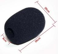 Esponja para microfone mini preto 20x30x8 milímetros