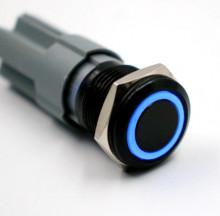 Interruptor ON/OFF Metálico iluminado - à prova de água 12V com fios