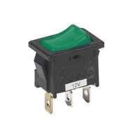 INTERRUPTOR ON-OFF MINI LUMINOSO 220V 15A Verde